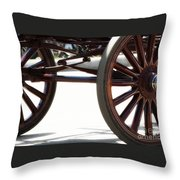 Carriage Wheels Throw Pillow
