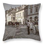 Carriages Back To Stephanplatz Throw Pillow