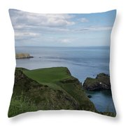 Carrick Island From Portaneevey Throw Pillow