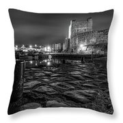 Carrickfergus Castle 7 Throw Pillow