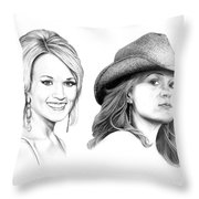 Carrie And Carrie Underwood Throw Pillow