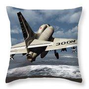 Carrier Launch Throw Pillow