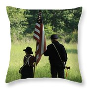 Carrier Of The Flag Throw Pillow