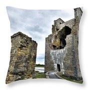Carrigafoyle Castle - Ireland Throw Pillow