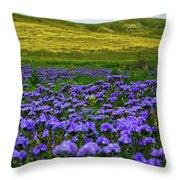 Carrizo Plain Wildflowers Throw Pillow