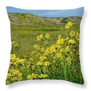 Carrizo Plain Yellow Daisies Throw Pillow
