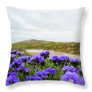 Carrizo Plains Phacelia Throw Pillow