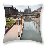 Carroll Creek Park In Frederick Maryland Throw Pillow