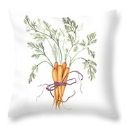 Carrot Harvest Throw Pillow