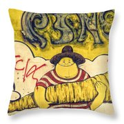 Carrot In Arms Throw Pillow