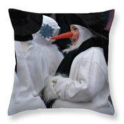 Carrot Nose 2 Throw Pillow