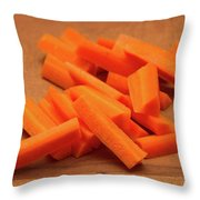 Carrot Sticks Throw Pillow