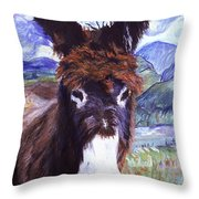 Carrot Top Throw Pillow by Pat Saunders-White