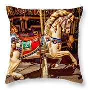 Carrousel Horse Ride Throw Pillow
