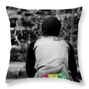 Carrying Colors Throw Pillow