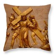 Carrying Cross Throw Pillow