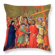 Carrying Of The Cross 1311 Throw Pillow