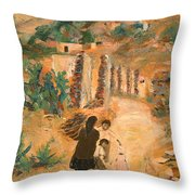 Carrying Wood II Throw Pillow
