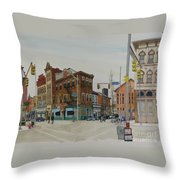 Carson Street Southside Pittsburgh Throw Pillow