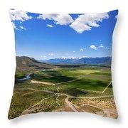 Carson Valley Panorama Throw Pillow