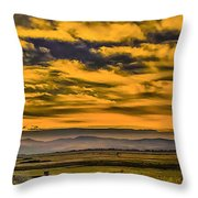 Carson Valley Sunrise Throw Pillow