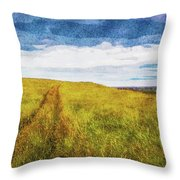 Cart Tracks On Videy Throw Pillow