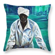 Cart Vendor Throw Pillow