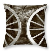 Cart Wheels Throw Pillow