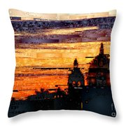 Cartagena Colombia Night Skyline Throw Pillow