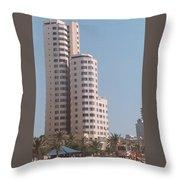 Cartagena Towers Throw Pillow