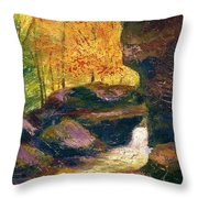 Carter Caves Kentucky Throw Pillow
