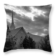 Carter Chapel Bridgewater College Va - Bw 1 Throw Pillow