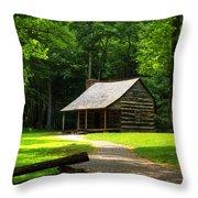 Carter Shields Cabin Throw Pillow