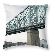 Cartier Bridge Day Throw Pillow