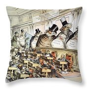 Cartoon: Anti-trust, 1889 Throw Pillow