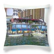Cartoon Boats Throw Pillow