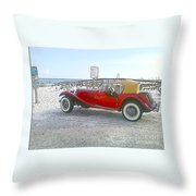 Cartoon Car Throw Pillow