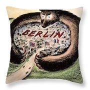 Cartoon: Cold War Berlin Throw Pillow