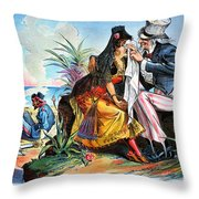 Cartoon: Cuba, 1895 Throw Pillow