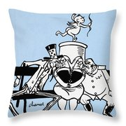 Cartoon: Germany Divided Throw Pillow