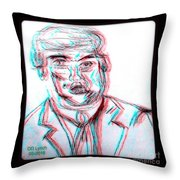 Cartoon Ink Sketch Of The Candidate Throw Pillow