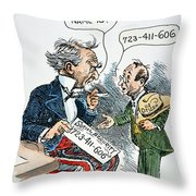 Cartoon: New Deal, 1935 Throw Pillow