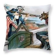 Cartoon: Panic Of 1893 Throw Pillow