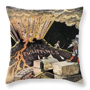 Cartoon: Philippines, 1899 Throw Pillow