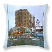 Cartoon Skyscraper  Throw Pillow