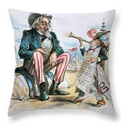 Cartoon: Uncle Sam, 1893 Throw Pillow