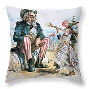 Cartoon: Uncle Sam, 1893 Throw Pillow