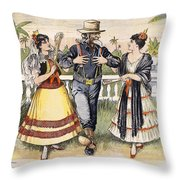Cartoon: Uncle Sam, 1898 Throw Pillow