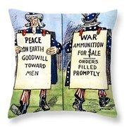 Cartoon: U.s. Neutrality Throw Pillow