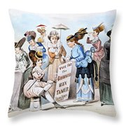 Cartoon: Womens Rights Throw Pillow